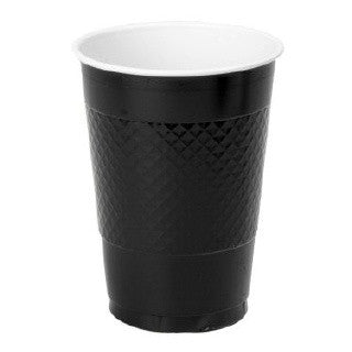 Black Plastic Cups, 16oz- 20 pk