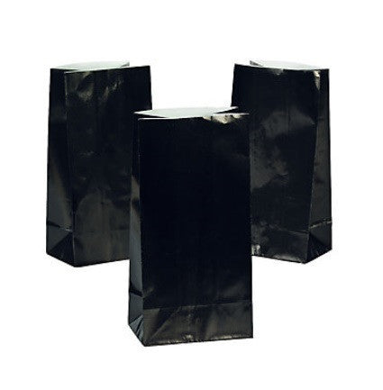 Black Paper Favor Bags, 12 pk - Bachelorette Superstore - Bachelorette Party Ideas
