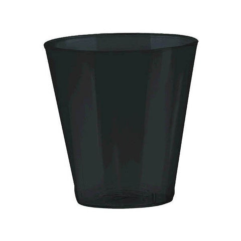 Black Plastic Shot Glasses, 20 pk