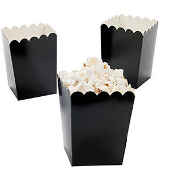 Black Mini Popcorn Boxes, 12 pk