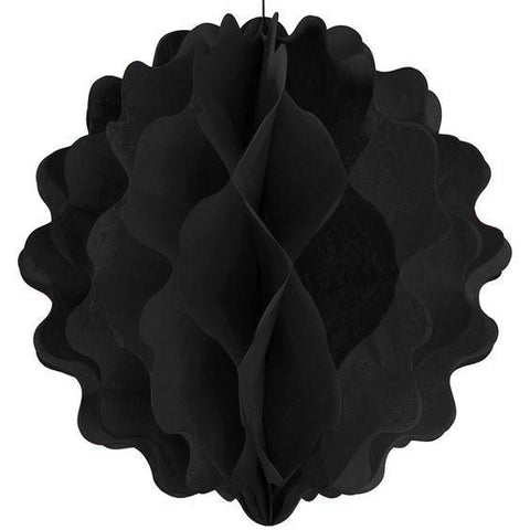 8 in. Black Tissue Ball, 1 pc - Bachelorette Superstore - Bachelorette Party Ideas