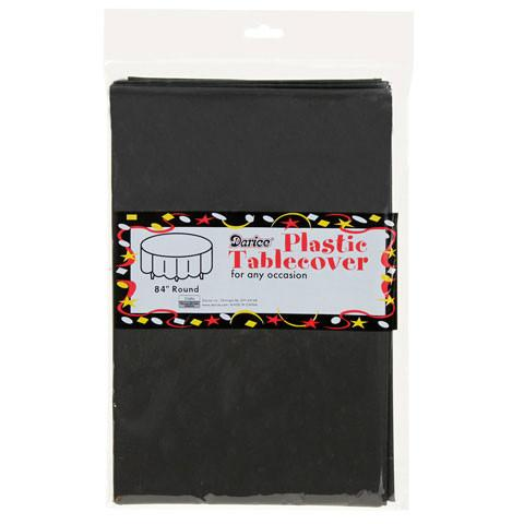 "Round Table Cover, 84""- Black"