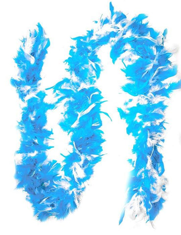 Feather Boa w/ sparkles, Teal & White - Bachelorette Superstore - Bachelorette Party Ideas