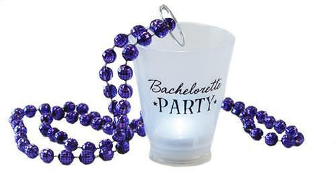 Bachelorette Party Light-Up Shot Glass Necklace - Bachelorette Superstore - Bachelorette Party Ideas