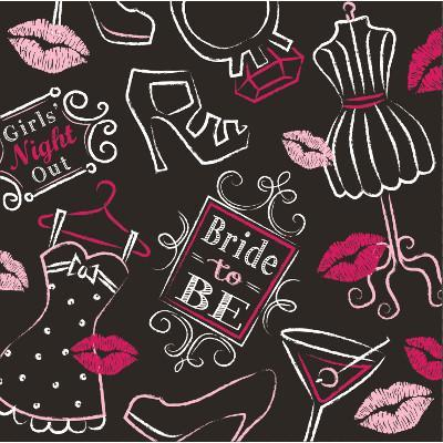 Bachelorette Bash Napkins, bev. 16ct.