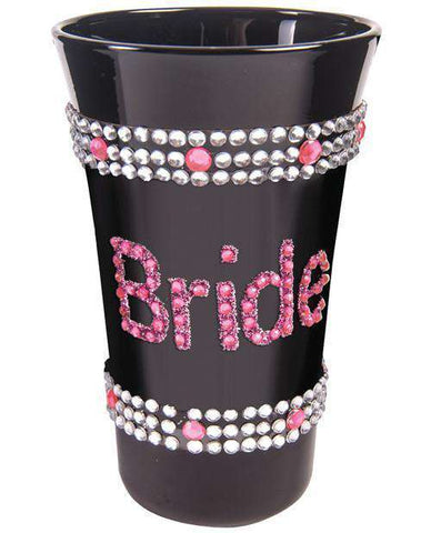 Black Bling Shot Glass- Bride - Bachelorette Superstore - Bachelorette Party Ideas