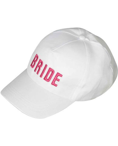 White BRIDE Baseball hat