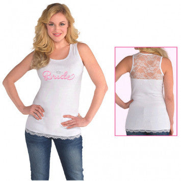 Bride Tank w/ lace back, L/XL