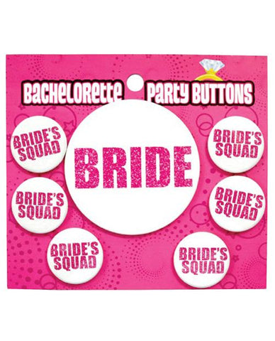 Bride Squad Buttons, 7pc - Bachelorette Superstore - Bachelorette Party Ideas