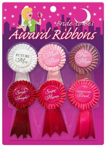 Bride to Be Mini Award Ribbons, 6 pc - Bachelorette Superstore - Bachelorette Party Ideas