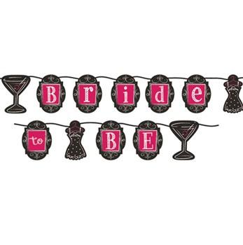 Martini Bride to Be Ribbon Banner