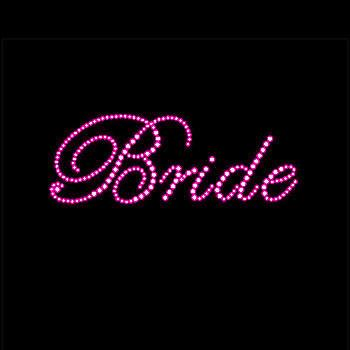 Rhinestone Iron On- PINK Bride