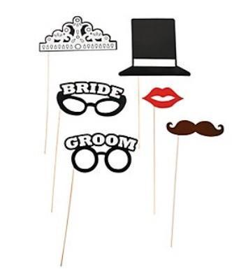 Bride & Groom Stick Props