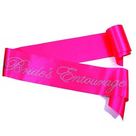 Rhinestone 'Brides Entourage' Hot Pink Sash - Bachelorette Superstore - Bachelorette Party Ideas