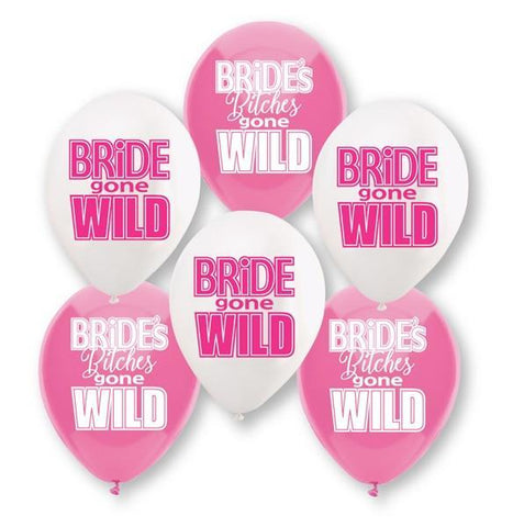 Bride Gone Wild Balloons, 6pk - Bachelorette Superstore - Bachelorette Party Ideas
