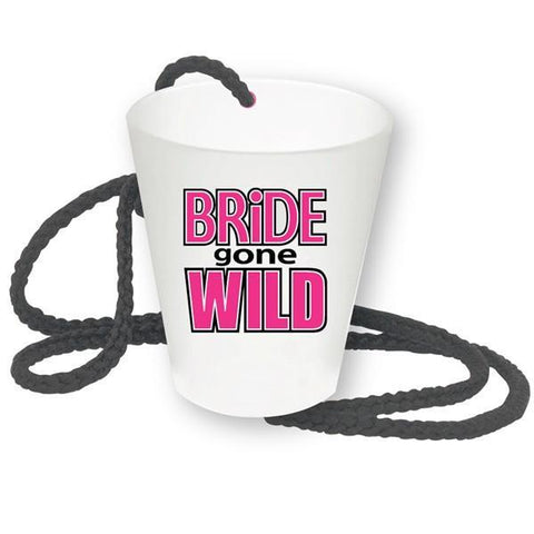 Bride Gone Wild Shot Glass Necklace