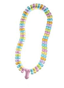 Penis Candy Necklace, 1 pkg - Bachelorette Superstore - Bachelorette Party Ideas