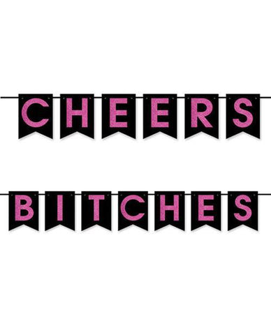 Cheers Bitches Pennant Banner, 12 ft. - Bachelorette Superstore - Bachelorette Party Ideas
