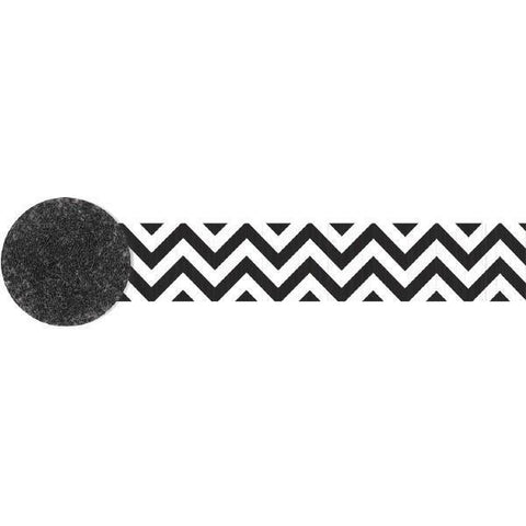 Black Chevron Party Streamers, 81 ft