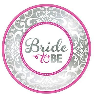 "Classic Bride Metallic Design Plate, 7"" 8ct. - Bachelorette Superstore - Bachelorette Party Ideas"