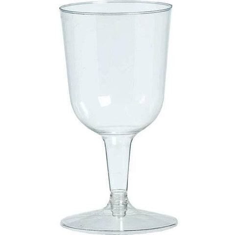 Clear Plastic Wine Glasses, 10 oz-20 pk - Bachelorette Superstore - Bachelorette Party Ideas
