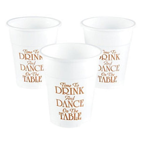 Drink and Dance on the Table Plastic Cups, 10 pk