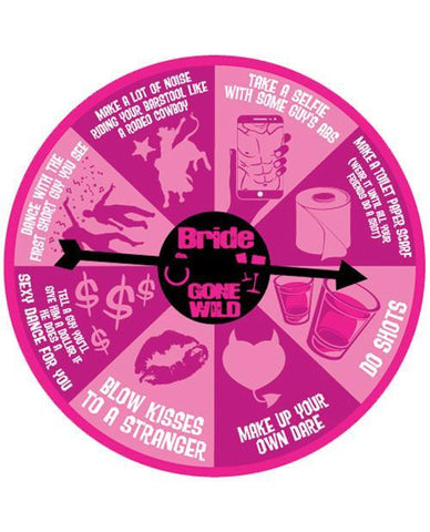 Bride Gone Wild Dare Spinner Button - Bachelorette Superstore - Bachelorette Party Ideas