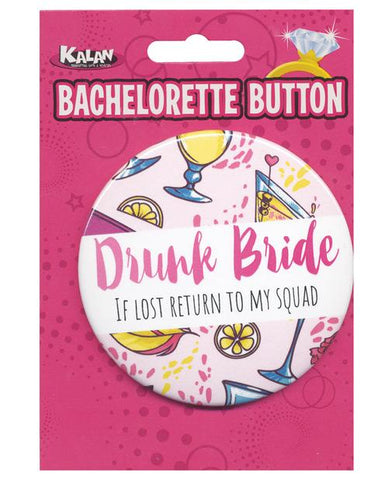 Drunk Bride Button, 1 pc