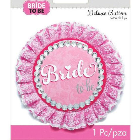"Deluxe ""Bride to Be"" Button, 1 pc - Bachelorette Superstore - Bachelorette Party Ideas"