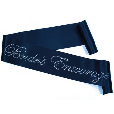 Rhinestone 'Brides Entourage' Black Sash