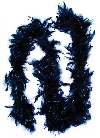 Feather Boa w/ irridescent sparkles, Black