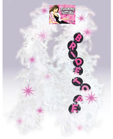 Flashing White Boa- Bride to Be, 1 pc
