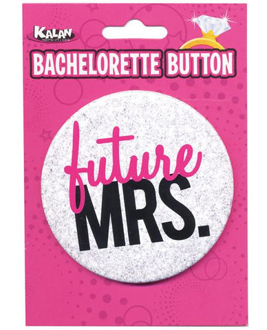 Future MRS. button, white- 1pc