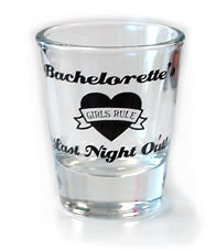 Bachelorette's Last Night Out Shot, 1 pc clear - Bachelorette Superstore - Bachelorette Party Ideas