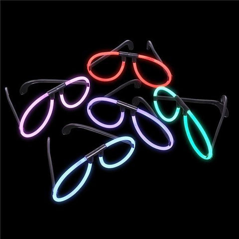 Glow Eyeglasses, asstd colors, 5 pr.