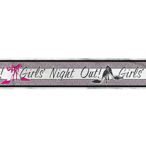 Girls Night Out Foil Banner, 12 ft. - Bachelorette Superstore - Bachelorette Party Ideas