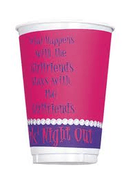 Girls Night Out Cups, 16 oz. 8pk - Bachelorette Superstore - Bachelorette Party Ideas