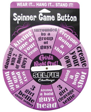 Girls Night Out Selfie Challenge Button - Bachelorette Superstore - Bachelorette Party Ideas