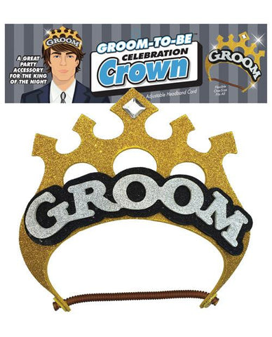 Gold Groom Crown - Bachelorette Superstore - Bachelorette Party Ideas