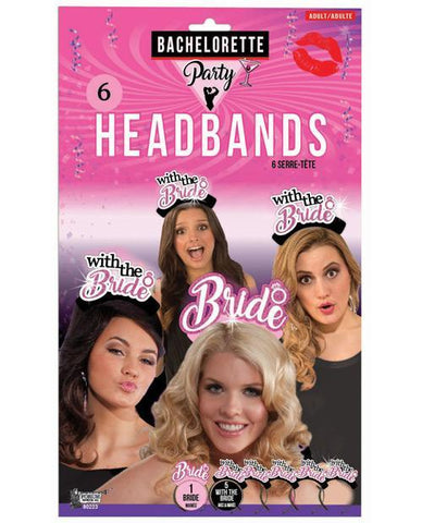With the Bride Headbands (6 pack)