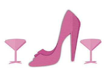 High Heel & 2 Martinis Centerpiece