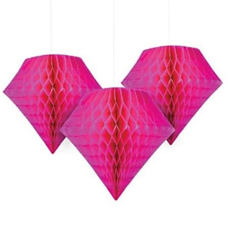 Hot Pink Tissue Diamond, 2 pc