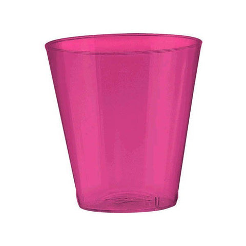 Hot Pink Plastic Shot Glasses, 20 pk
