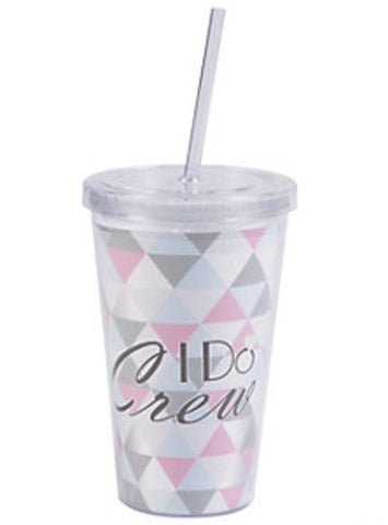 I Do Crew Plastic Tumbler w/ Straw