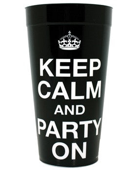 Keep Calm and Party On! cup, 1 pc - Bachelorette Superstore - Bachelorette Party Ideas