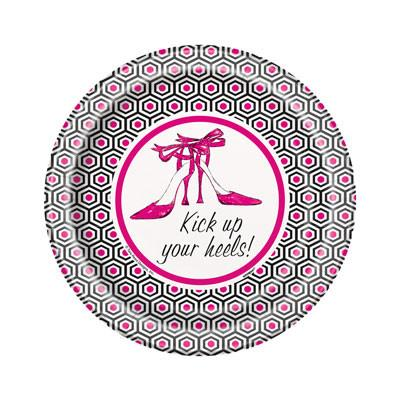 Kick Up Your Heels! Plates, 7in. - 8pk - Bachelorette Superstore - Bachelorette Party Ideas