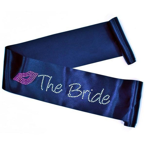 'Kiss The Bride' Rhinestone Sash