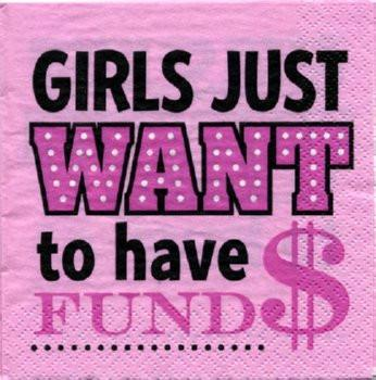Pink and Lace Fund$ Napkin, 30 pk