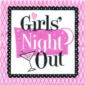 Pink and Lace Girls Night Out Napkins, bev. 30 pk - Bachelorette Superstore - Bachelorette Party Ideas