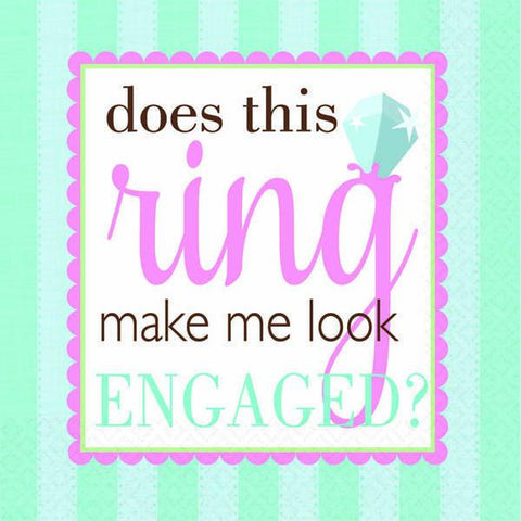 Does this ring make me look engaged?  luncheon napkins, 16ct. - Bachelorette Superstore - Bachelorette Party Ideas